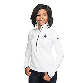 Dallas Cowboys Nike Pro Hyperwarm Half Zip Pullover