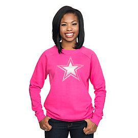 Dallas Cowboys Glitter Star Dazzle Crew