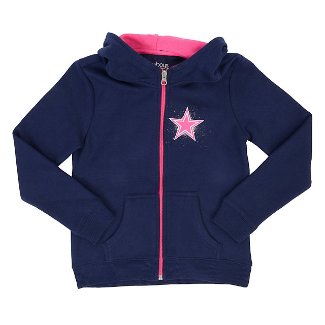 Dallas Cowboys Girls Standifier Full-Zip Hoody