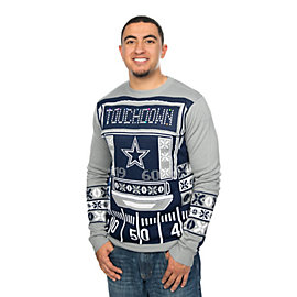 Dallas Cowboys Mens Light Up Crew Neck Ugly Sweater