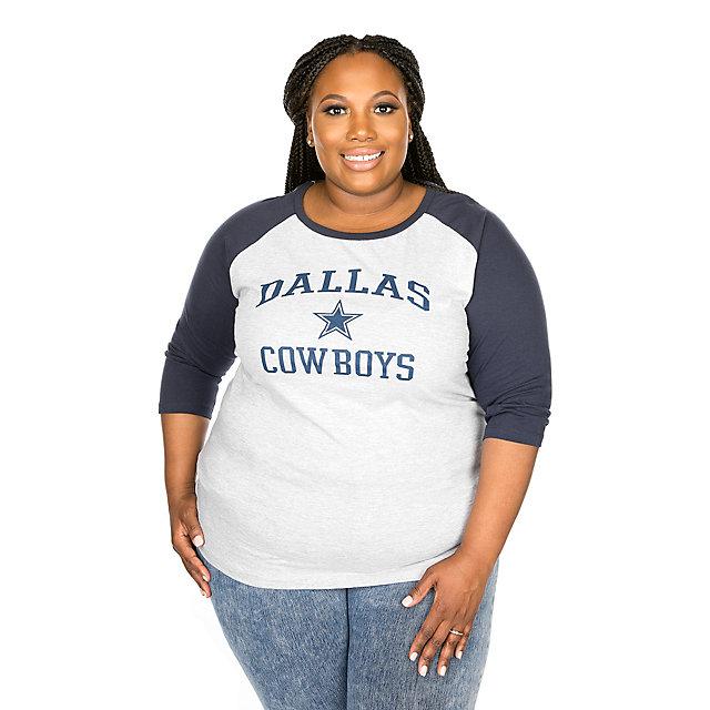 Dallas Cowboys Screen Print ¾ Raglan Tee
