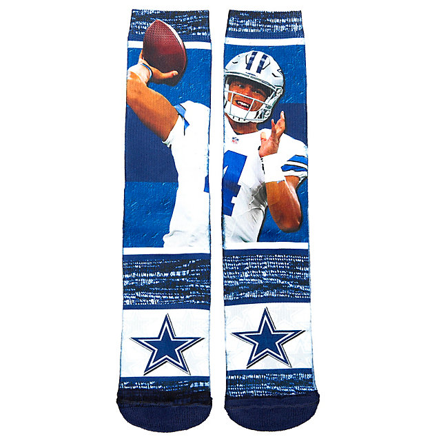 Dallas Cowboys Youth Dak Prescott Sublimated Rush Socks