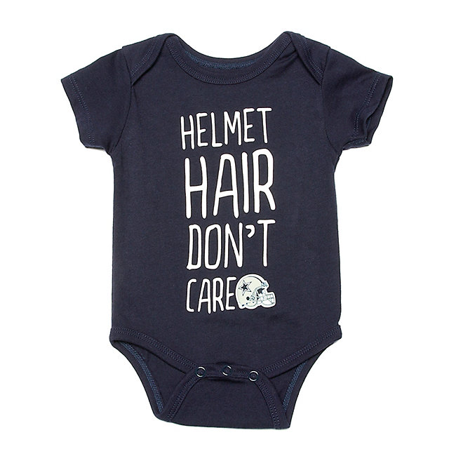 Dallas Cowboys Infant Helmet Hair Bodysuit