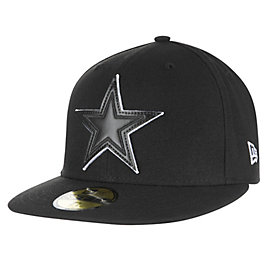 Dallas Cowboys New Era Leather Pop Fitted 59Ffity Cap