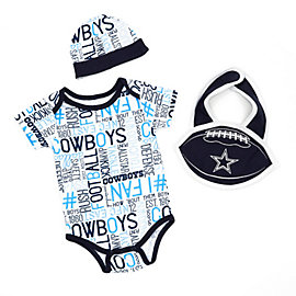 Dallas Cowboys Infant Kirby Bib Set