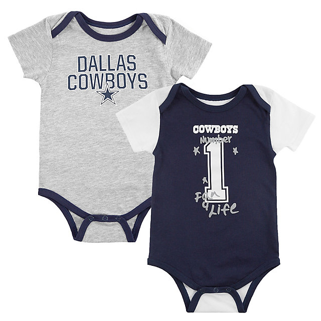 Dallas Cowboys Infant Emilio 2 Pack Bodysuit Set