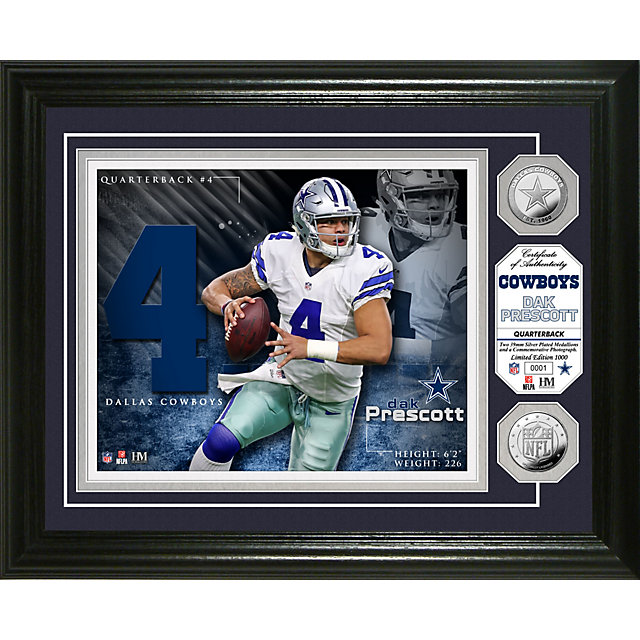 Dallas Cowboys Dak Prescott Photo Mint Frame