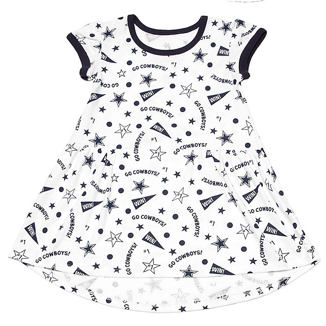 Dallas Cowboys Toddler Degan Dress