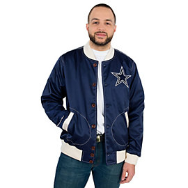 Dallas Cowboys Mitchell & Ness Hometown Champs Satin Jacket