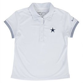 Dallas Cowboys Nike Golf Girls Victory Polo
