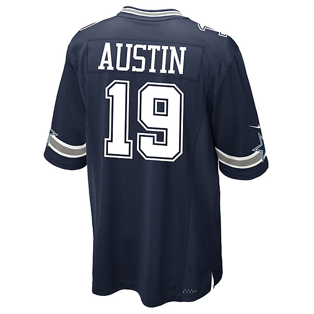 Dallas Cowboys Miles Austin #19 Nike Navy Game Replica Jersey