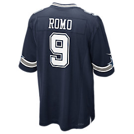 Dallas Cowboys Tony Romo #9 Nike Navy Game Replica Jersey 3XL-4XL