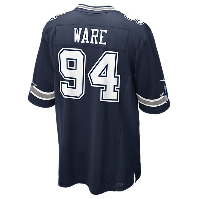 Dallas Cowboys DeMarcus Ware #94 Nike Navy Game Replica Jersey