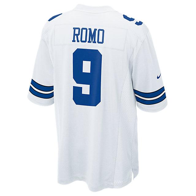 Dallas Cowboys Tony Romo #9 Nike White Game Replica Jersey 3XL-4XL ...