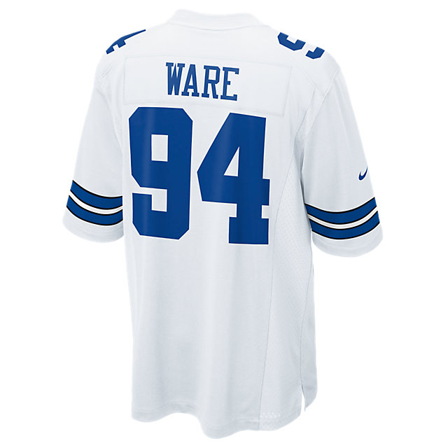 Dallas Cowboys DeMarcus Ware #94 Nike White Game Replica Jersey 3XL-4XL
