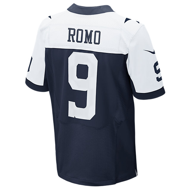 Dallas Cowboys Romo Nike Elite Authentic Throwback Jersey