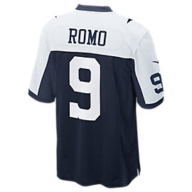 Dallas Cowboys Tony Romo #9 Nike Game Replica Throwback Jersey