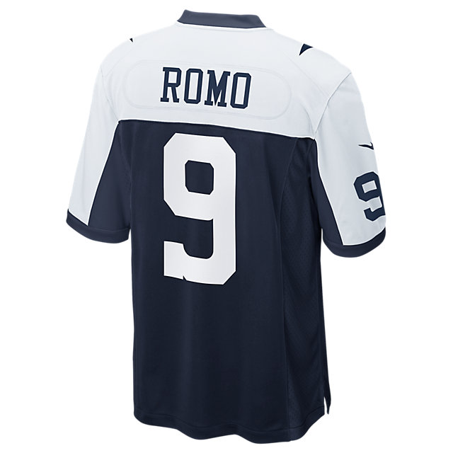 Dallas Cowboys Tony Romo #9 Nike Game Replica Throwback Jersey 3XL-4XL