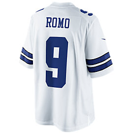 Dallas Cowboys Romo #9 Nike White Limited Jersey 3XL-4XL