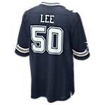 Dallas Cowboys Sean Lee #50 Nike Navy Game Replica Jersey