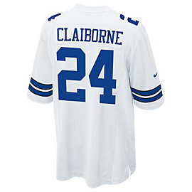 Dallas Cowboys Morris Claiborne #24 Nike White Game Replica Jersey