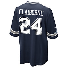 Dallas Cowboys Morris Claiborne #24 Nike Navy Game Replica Jersey