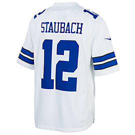 Dallas Cowboys Roger Staubach #12 Nike White Limited Jersey