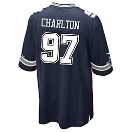 Dallas Cowboys Taco Charlton Nike Navy Game Replica Jersey