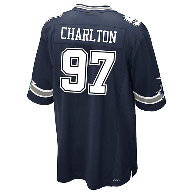 Dallas Cowboys Draft Pick #1 Nike Navy Game Replica Jersey