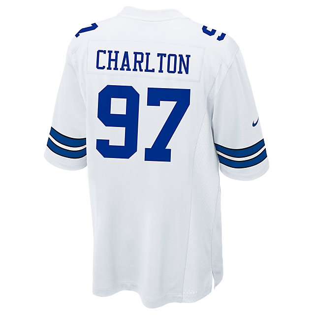 Dallas Cowboys Taco Charlton  Nike White Game Replica Jersey