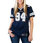 Dallas Cowboys Womens DeMarcus Ware #94 Nike Navy Game Replica Jersey