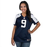 Dallas Cowboys Womens Tony Romo #9 Nike Game Throwback Jersey