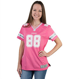 Dallas Cowboys Womens Dez Bryant #88 Pink Jersey