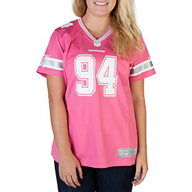 Dallas Cowboys Womens DeMarcus Ware #94 Pink Jersey