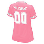 Dallas Cowboys Womens Custom Pink Replica Jersey