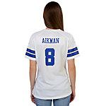 Dallas Cowboys Womens Troy Aikman #8 Nike White Game Replica Jersey
