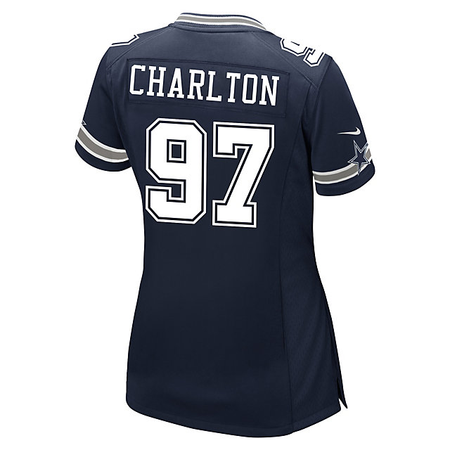 Dallas Cowboys Womens Draft Pick #1 Nike Navy Game Replica Jersey