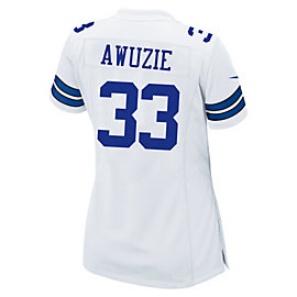 Dallas Cowboys Womens Draft Pick #2 Nike White Game Replica Jersey