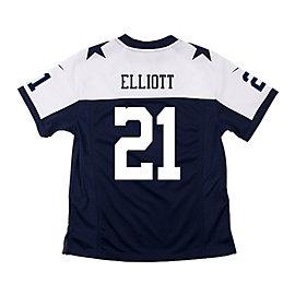 Dallas Cowboys Youth Ezekiel Elliott #21 Nike Game Replica Throwback Jersey