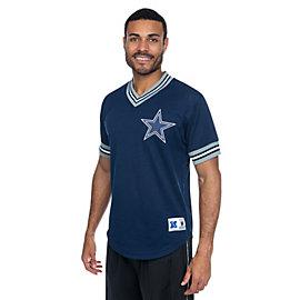 Dallas Cowboys Mitchell & Ness Mesh V-Neck Top