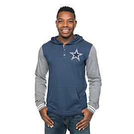 Dallas Cowboys Mitchell & Ness Mid Season Hooded Long Sleeve Tee