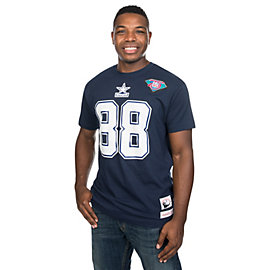 Dallas Cowboys Mitchell & Ness Michael Irvin #88 Name & Number Tee