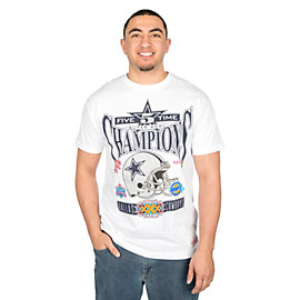 Dallas Cowboys Mitchell & Ness Seal The Win 5-Time Champ Short Sleeve Tee