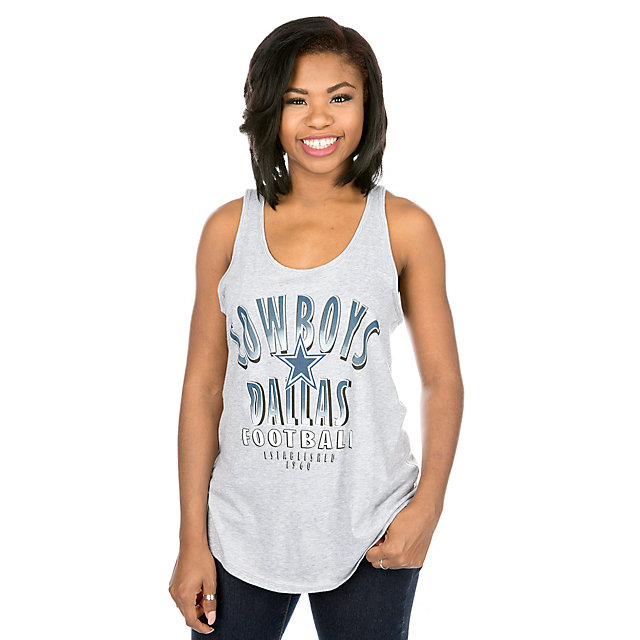 Dallas Cowboys Mitchell & Ness Womens Seal The Win Tank