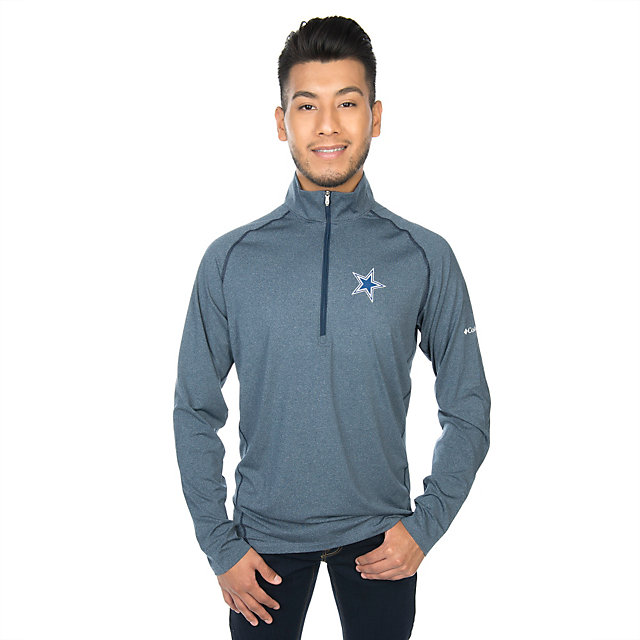 Dallas Cowboys Columbia Tuk Mountain Long Sleeve Half-Zip Top