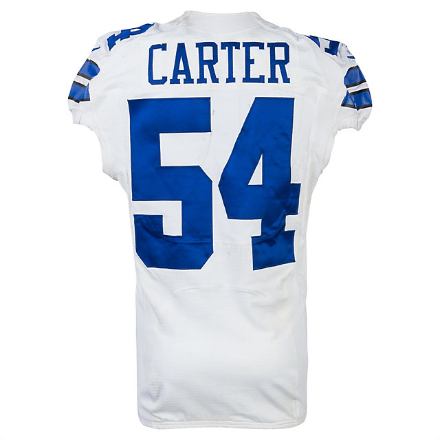 Dallas Cowboys Nike Bruce Carter #54 Game Worn 2013 Jersey