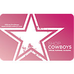 Dallas Cowboys Ladies Gift Card $5-$100