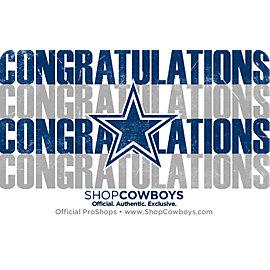Dallas Cowboys Congrats Gift Card $5-$100