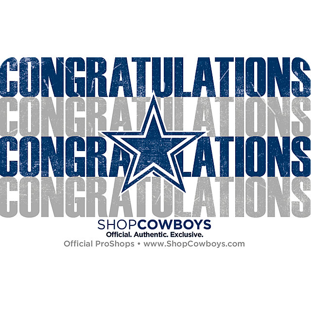 Dallas Cowboys Congrats Gift Card $5-$100