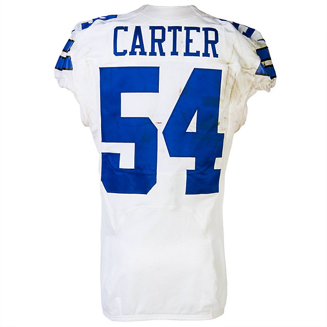 Dallas Cowboys Nike Bruce Carter #54 Game Worn 10/20/13 Jersey